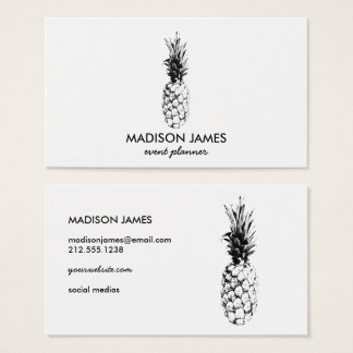 Modern Trendy Tropical Pineapple Fruit Minimal Business Card