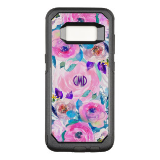 Modern Trendy Watercolors Flowers Collage OtterBox Commuter Samsung Galaxy S8 Case