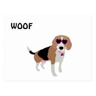 Modern tri-color beagle dog postcard