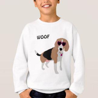 Modern tri-color beagle dog sweatshirt