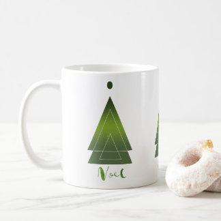 Modern Triangle Christmas Tree Noel Gift Coffee Mug