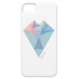 Modern triangle heart case for the iPhone 5
