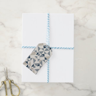 modern triangles gift tag