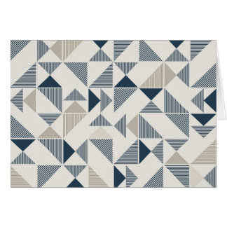 modern triangles greeting card
