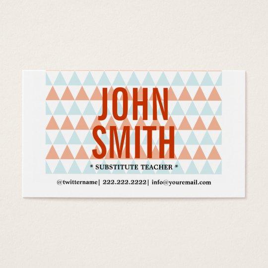 chalkboard apple substitute teacher business cards zazzle com
