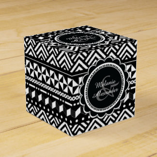 Modern Tribal Aztec Geometric Party Favor Boxes