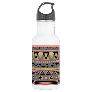 modern tribal aztec gold foil geometric pattern 532 ml water bottle