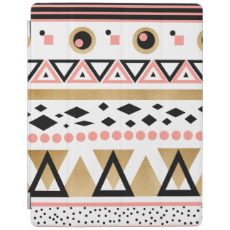 modern tribal aztec gold foil geometric pattern iPad cover