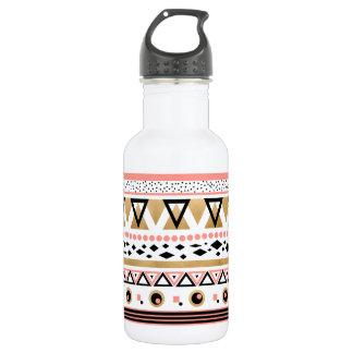 modern tribal aztec gold geometric pattern 532 ml water bottle