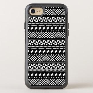 Modern Tribal Black on White Geometric OtterBox Symmetry iPhone 7 Case