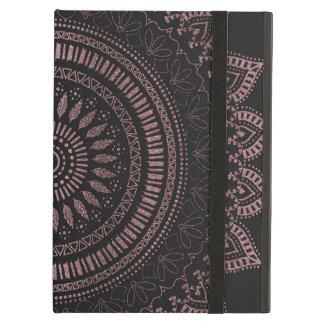 Modern tribal rose gold mandala design iPad air case