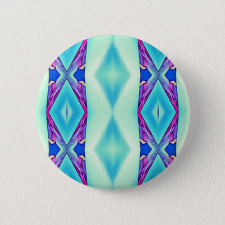 Modern Tribal Shades Of Teal Lavender 2 Inch Round Button