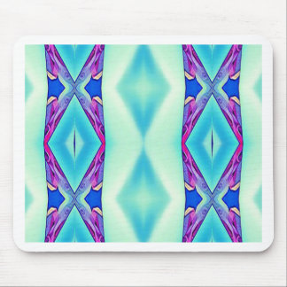 Modern Tribal Shades Of Teal Lavender Mouse Pad
