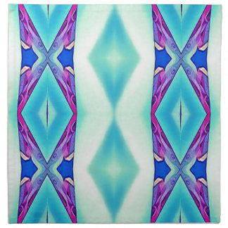 Modern Tribal Shades Of Teal Lavender Napkin