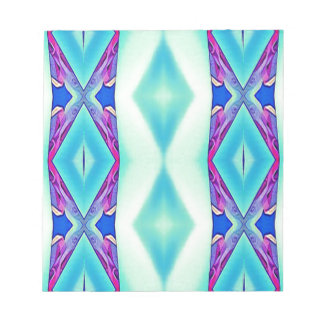 Modern Tribal Shades Of Teal Lavender Notepad