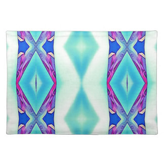 Modern Tribal Shades Of Teal Lavender Placemat