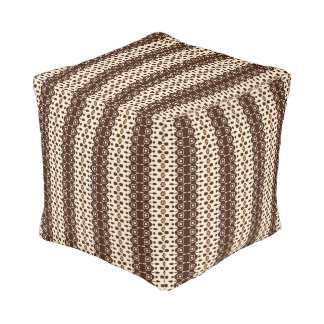 Modern Tribal with Earth Tones Pouf
