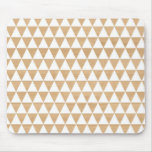 Modern tribal wood geometric chic andes pattern mouse pad