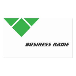 Modern Triple Green Optometrist Business Card
