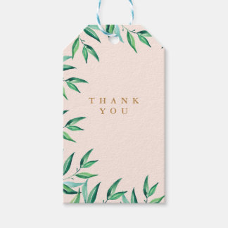 Modern Tropical Beach Wedding Thank You Tags Pack Of Gift Tags