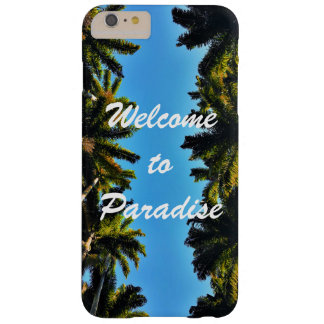 Modern tropical palm tree paradise summer photo barely there iPhone 6 plus case
