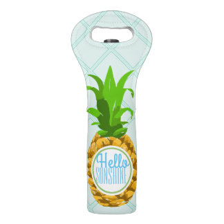 Modern Tropical Pineapple Hello Sunshine Wine Bag