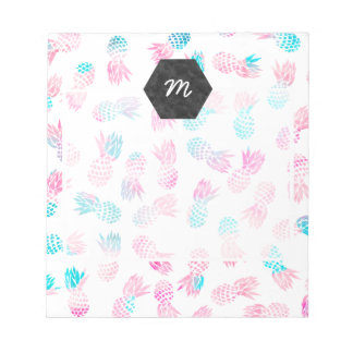 Modern tropical pineapples watercolor illustration notepads