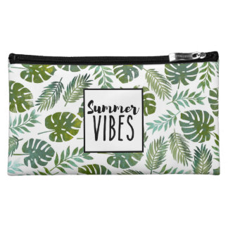 Modern tropical trend cosmetic bag