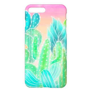 Modern tropical watercolor cactus illustration iPhone 8 plus/7 plus case