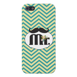 Modern Turquoise  Chartreuse Damask Wedding iPhone 5/5S Cases