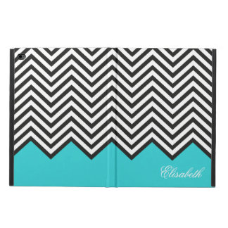 Modern Turquoise Chevron Zigzag Pattern Powis iPad Air 2 Case