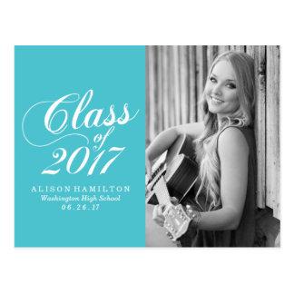Modern Turquoise | Graduation Announcement Postcard