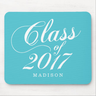 Modern Turquoise | Graduation Mouse Pad