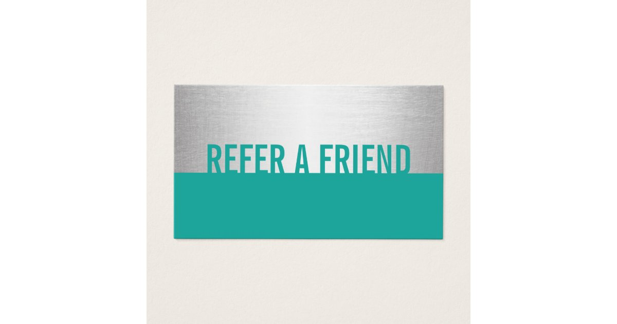 Modern turquoise silver beauty salon referral business for Salon turquoise