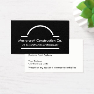 Modern Two Side Construction Business Card