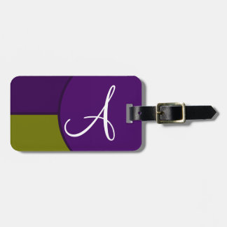 Modern Two Tone Luggage Tag