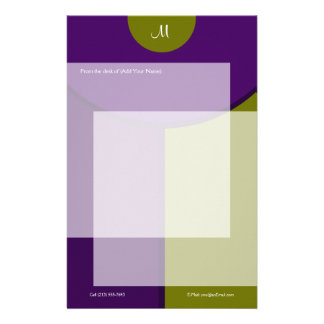 Modern Two Tone Stationery