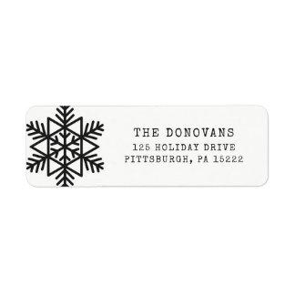 Modern Typewriter | Black and White Snowflake