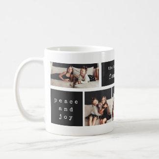 Modern Typewriter   Christmas 4 Photo Collage Coffee Mug