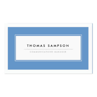 Modern Typography Business Cards - Blue