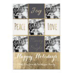 "Modern typography Christmas gold photo collage 5"" X 7"" Invitation Card"