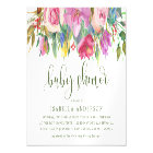 Modern Typography | Floral Watercolor Baby Shower Magnetic Card