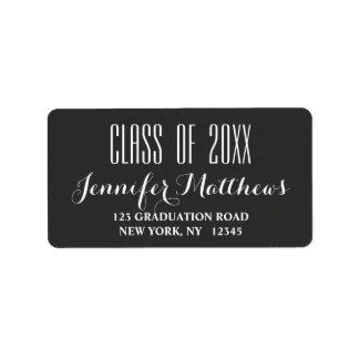 Modern Typography | Graduation Address Label