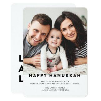 Modern Typography Hanukkah Photo Card