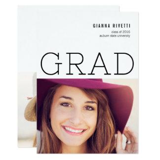 Modern Typography Photo Graduation Announcement