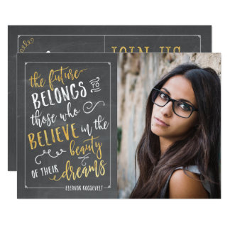 Modern Typography Photo Graduation Announcements