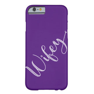 Modern Typography Pick Your Color Wifey Barely There iPhone 6 Case