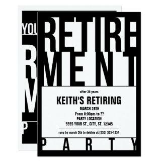 Modern Typography, Retirement Party Invitations