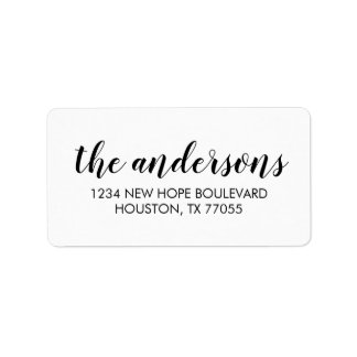 Modern Typography Return Address Labels
