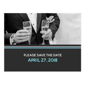 Modern Typography Save the Date Postcard
